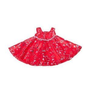Kimalteleva punainen mekko 40 cm