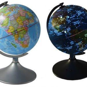 Kon-Tiki Karttapallo tähtimerkeillä ja telineellä