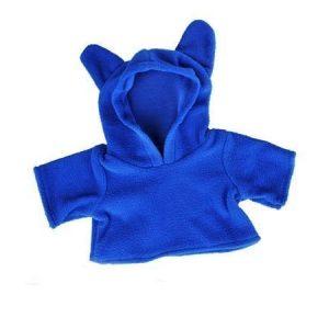 Korvallinen fleecehuppari sinisenä 40 cm