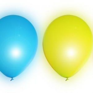 LED Light Up Balloon 5-pack Mixed Colours