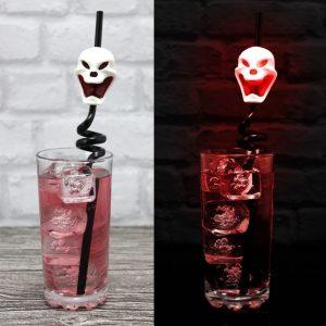LED Screaming Skull Straws