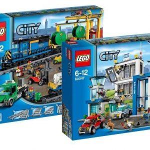 LEGO City Tavarajuna + Poliisiasema Paketti