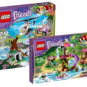 LEGO Friends Pelastusoperaation viidakkotukikohta + Pelastusoperaatio viidakkosillalla Paketti