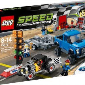 LEGO Speed Champions 75875 Ford F-150 Raptor ja Fordin A-mallin viritetty auto