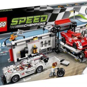 LEGO Speed Champions 75876 Porsche 919 Hybrid ja 917K-varikkokaista