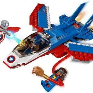 LEGO Super Heroes 76076 Kapteeni Amerikan suihkaritakaa-ajo