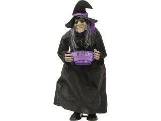 Large witch standing with bowl