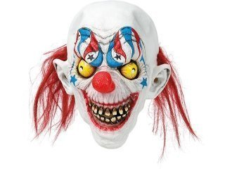 Latex mask clown with teeth
