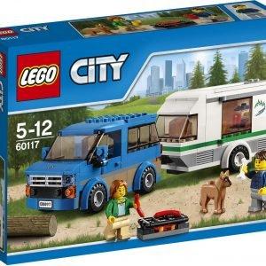 Lego City Great Vehicles 60117 Pakettiauto Ja Asuntovaunu
