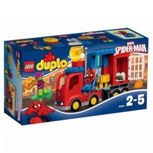 Lego Spider Man Ja Seikkailu Hämähäkkikuorma Autolla 10608