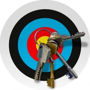Magnetic Key Target Board