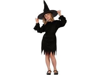 Maskeraddräkt black witch kid