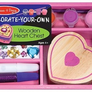 Melissa & Doug Decorate your own Wooden Heart Chest