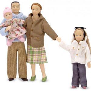 Melissa & Doug Dollhouse Victorian Doll Family