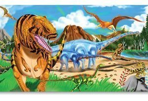 Melissa & Doug Floor Puzzle Land of Dinosaurs 48 Pieces