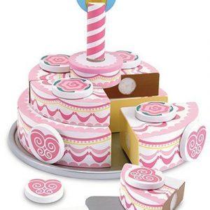 Melissa & Doug Leikkiruokaa Wooden Triple-layer Party Cake