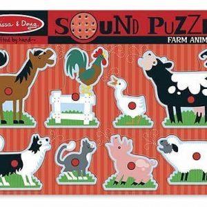 Melissa & Doug Sound Puzzle Farm Animals