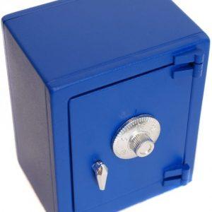 Metallinen kassakaappi koodilukolla Sininen