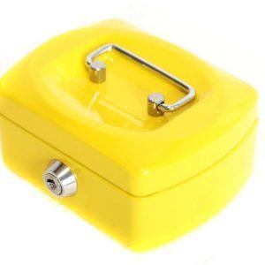 Metallinen kassalaatikko Keltainen