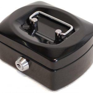 Metallinen kassalaatikko Musta