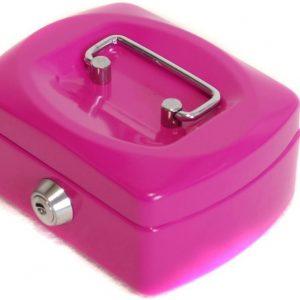 Metallinen kassalaatikko Pinkki