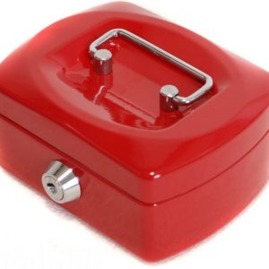 Metallinen kassalaatikko Punainen