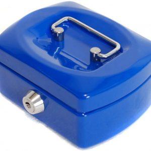 Metallinen kassalaatikko Sininen