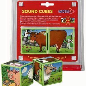 Micki Sound Cubes Maatila eläimet