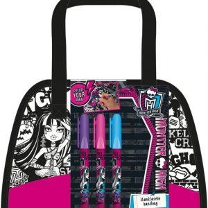Monster High Väritettävä käsilaukku vetoketjulla