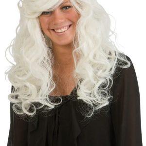 Naamiaiset Peruukki pitkä blondi