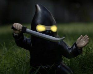 Ninjatonttu lampulla