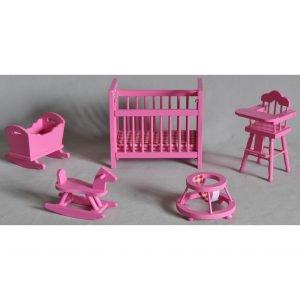 Nukkekodin Pinkki Lastenhuone