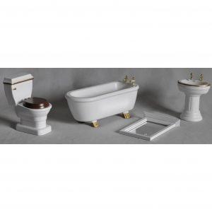 Nukkekodin Valkoinen Kylpyhuone