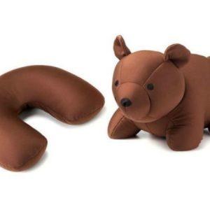 Pehmolelu-matkatyyny karhu