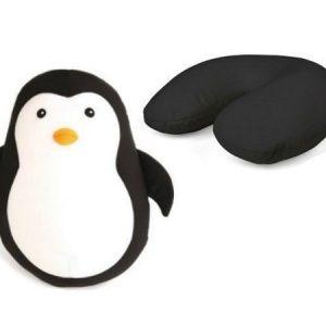 Pehmolelu-matkatyyny pingviini