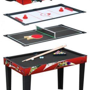 Pelipöytä 4-in-1 Punainen