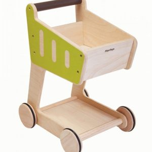 Plantoys Shopping Cart Ekologinen Puulelu