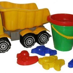 Plasto Hiekkasetti ja kuorma-auto 5 osaa