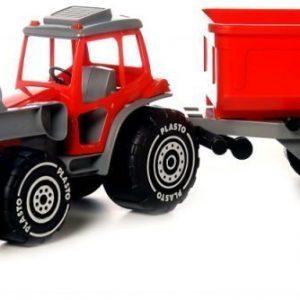 Plasto Kauhatraktori peräkärryllä Punainen