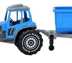Plasto Kauhatraktori peräkärryllä Sininen
