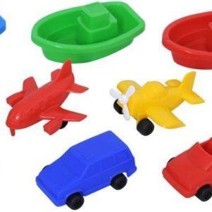 Plasto Lentokoneet & Autot pussissa 10 kpl 7-9 cm