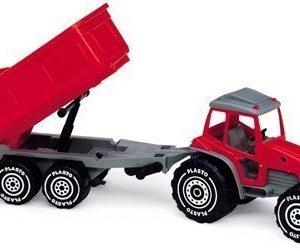 Plasto Traktori perävaunulla Punainen