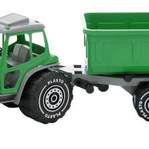 Plasto Traktori perävaunulla Vihreä