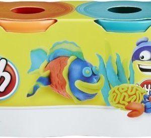 Play-Doh Classic Colours 4-pack Sininen/Oranssi/Turkoosi/Vihreä