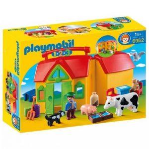 Playmobil 1.2.3 Maalaistalo Ja Eläimet