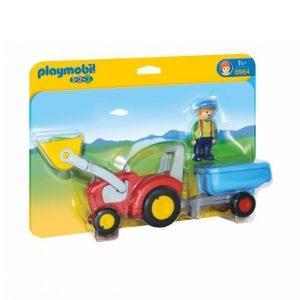 Playmobil 1.2.3 Traktori Ja Peräkärry
