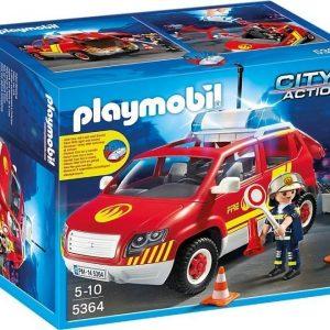 Playmobil City Action Palopäällikön auto valo- ja äänitoiminnolla