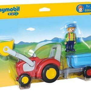 Playmobil Maanviljelijä sekä traktori ja peräkärry
