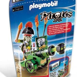 Playmobil Pirates Merirosvokapteeni ja vihreä kanuuna