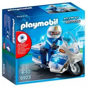 Playmobil Poliisimoottoripyörä Jossa Led Valo